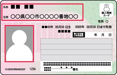 マイナンバーカードの撮影方法